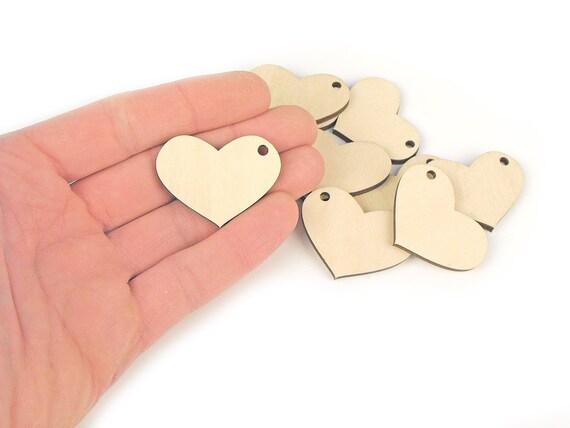 10x in legno a casa è dove il cuore è Forme Regalo TAG CRAFT CARD abbellimento