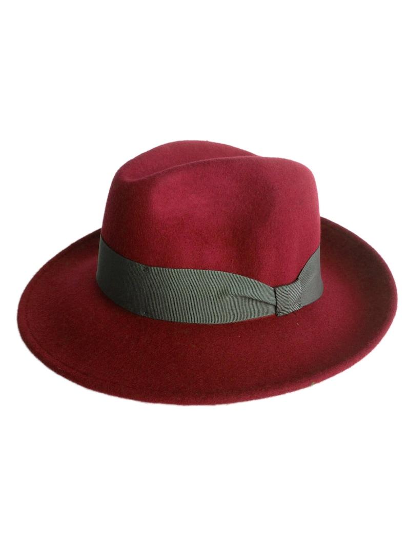 6c630da79de5 Arte fieltro-sombrero Borsalino de modelo-color burdeos