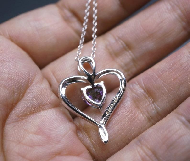 Rainbow Topaz Pendant 925 Silver Heart Necklace Dainty  Heart Pendant Heart Mystic Topaz Necklace Sterling Silver Topaz Jewelry