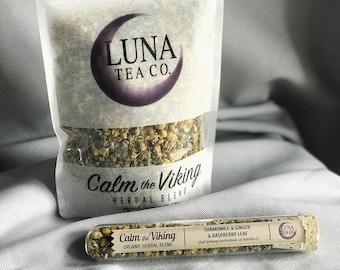 Chamomile Tea - Herbal Tea Blend - Organic Tea - Loose Leaf Tea - Caffeine Free - Ginger Tea - Test Tube Tea - CALM THE VIKING