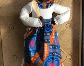 African- Plastic Bag Dispenser Doll