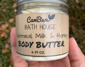 Whipped body butter (Oatmeal, milk & honey scent)
