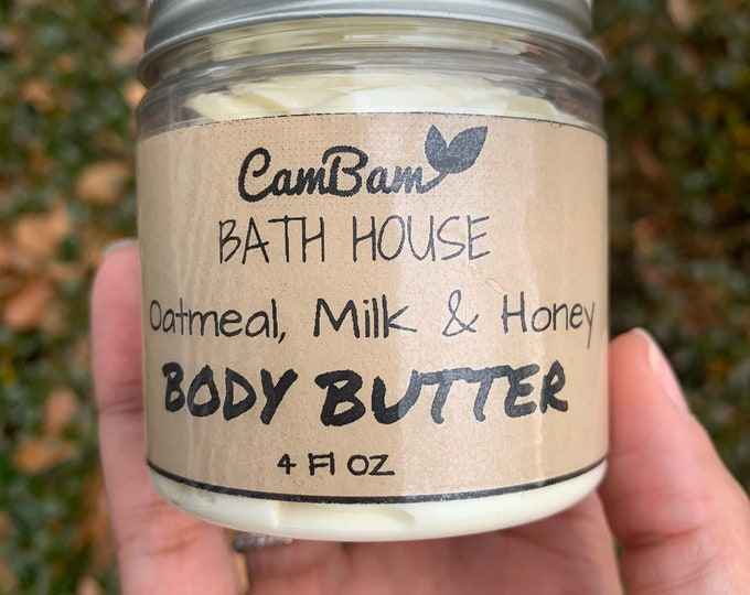 Whipped body butter (Oatmeal, milk & honey scent)