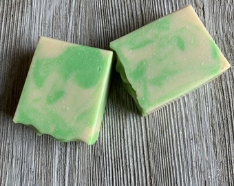 coconut lime verbena cold process soap