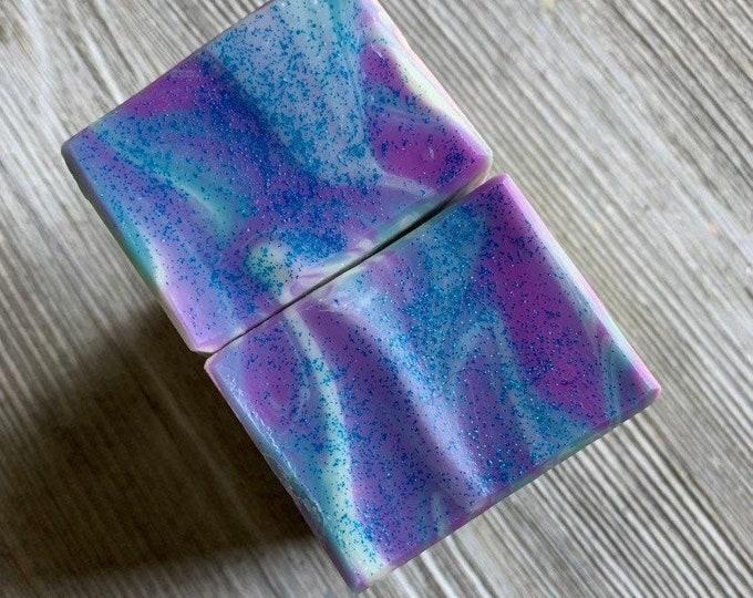 Black raspberry vanilla Deluxe size cold process soap