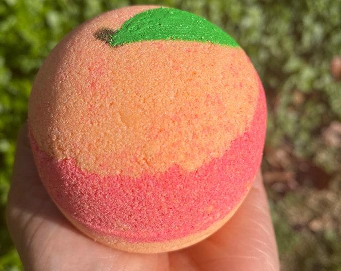 Georgia Peach handcrafted bath bomb