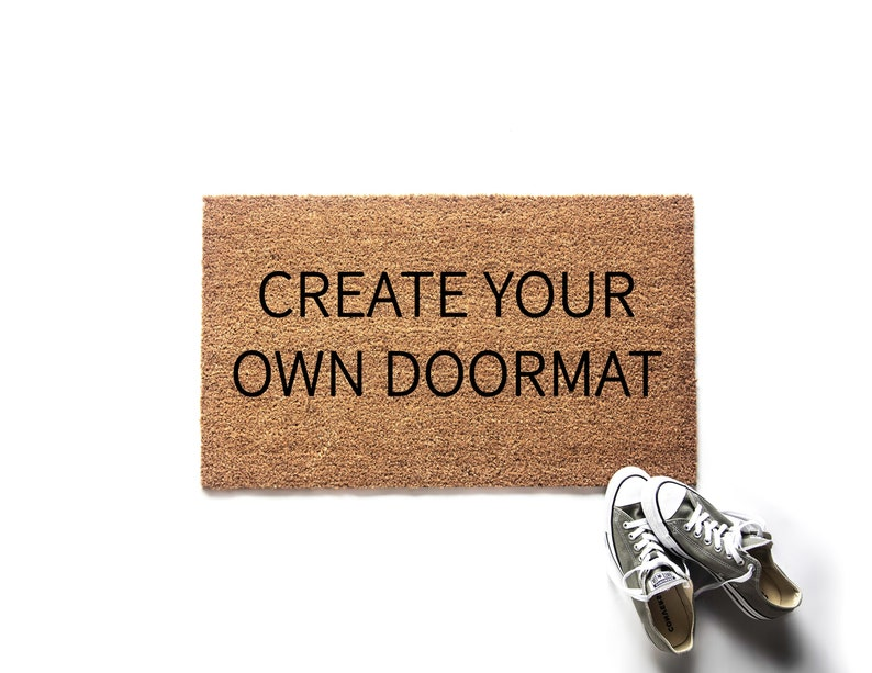 Custom Doormat  Create Your Own Doormat  Personalized Gift image 1