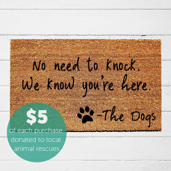 no need to knock we know you re here doormat welcome mat etsy