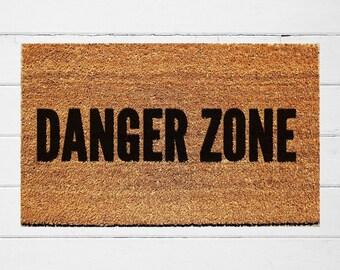 Danger Zone Doormat | Funny Door Mat| Nerdy Gift | Housewarming Gift | Archer Inspired | Top Gun