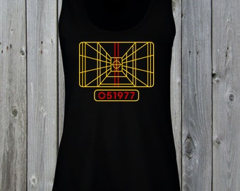 49c3f1440 X-Wing Stay On Target Women's Lady-Fit Tank Top