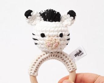 crochet rattle, crochet animal //Zebra ZOE//