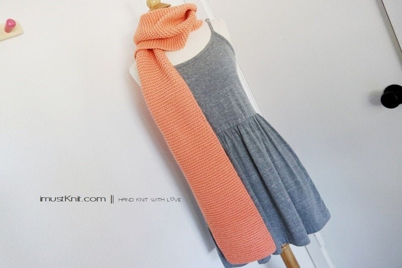 hand knit scarf  knitted chunky scarf  knit winter scarf  image 0