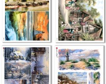 Paper Designs Rice Paper - Views - Landscape Rice Paper - Decoupage Rice Paper - A4 Rice Paper - Nature Rice Paper -Landscape and Nature