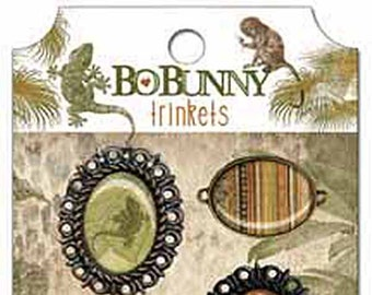 Bo Bunny Zoology Trinkets - Zoology Trinkets - Decorative Trinkets - Scrapbook Embellishments - Paper Craft Trinkets - Metal - 4-073
