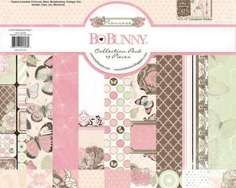 Bo Bunny Primrose Collection Pack - Primrose Paper - 12x12 - Card Stock Paper - Cardstock Paper - Pink And Blue Cardstock - Primrose - 4-084