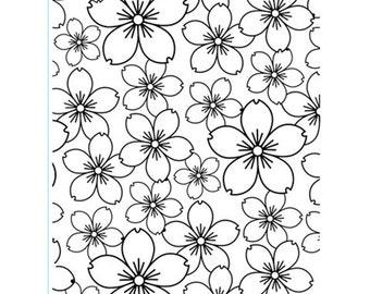 Cherry Blossom Embossing Folder - Cherry Embossing folder - Card Embossing - Cherry Bloom Embossing Folder - Cherry Blossom Emboss - 7-010