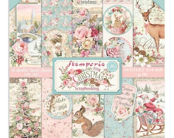 NEW 6x6 Pink Christmas Paper - Double Sided Paper - 6x6 Paper - Pink Christmas Collection - 6x6 Pink Christmas Paper Pad - 23-903