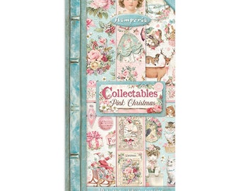 NEW 6x12 Collectibles Pink Christmas - Double Sided Paper - 6x12 Paper - Pink Christmas Collection - Pink Christmas Paper - 23-899