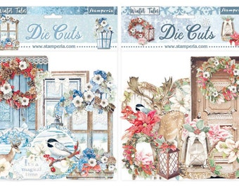 NEW Winter Tales Die Cuts - Winter Tales Assorted Die Cuts - Die Cut Assortment Pack - Winter Tales Collection - Christmas Element Pieces