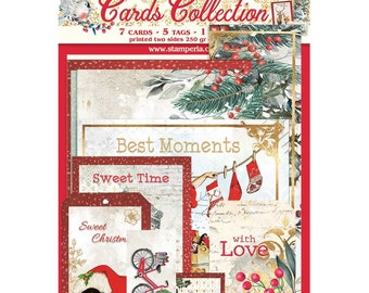 NEW Romantic Christmas Cards Collection - Journal Cards - Cards and Tags - Romantic Christmas Collection - Journal Cards for Album - 23-923