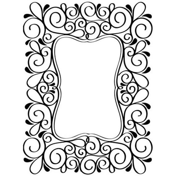Scroll Frame Embossing Folder Card Embossing Frame | Etsy