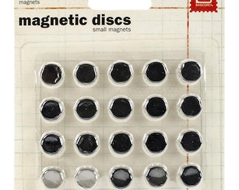 Small Magnets - Self Adhesive Magnets - Slim Magnets - Strong Magnets - Magnets - Crafting Magnets - Grey Magnets - Album Magnets - 26-052