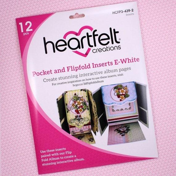 Heartfelt Creations E-White Flipfold Inserts