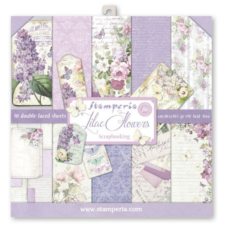 Stamperia Lilac Flowers Paper Pack  Double Sided Paper  image 0