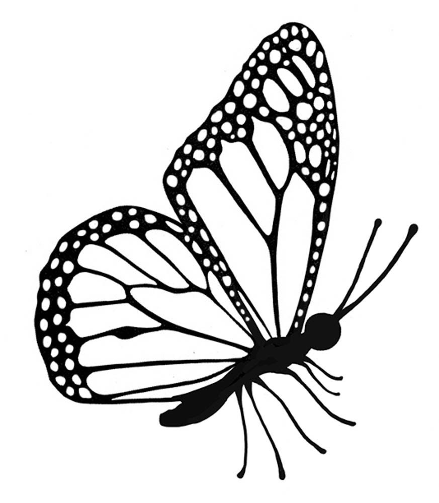 Lavinia EXTRA SMALL Flutterby Cling Stamp Butterfly