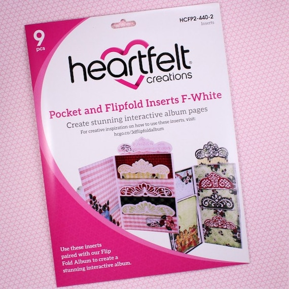 Heartfelt creations bolsillo y Insertos flipfold-e-Negro