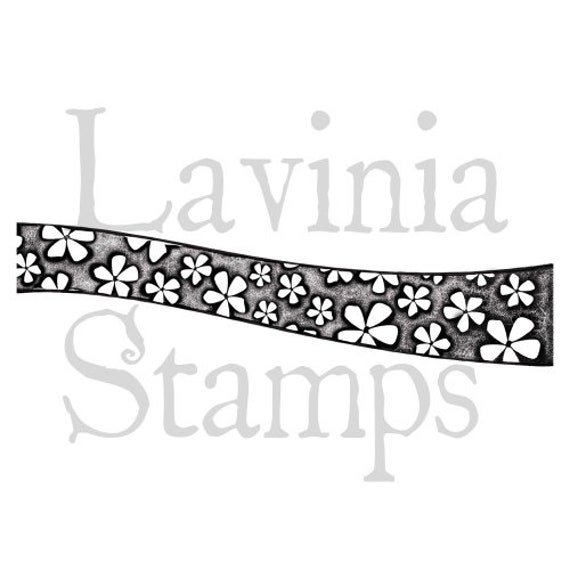 Lavinia Hill Border Large Flower Stamp Clear