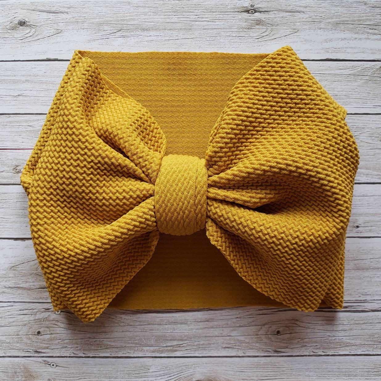 Yellow  Head Wrap Adult size headwrap Handmade