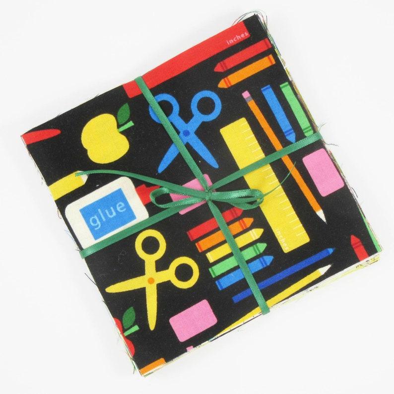 Twenty-one 5 Novelty Fabric Squares Charm Pack image 1