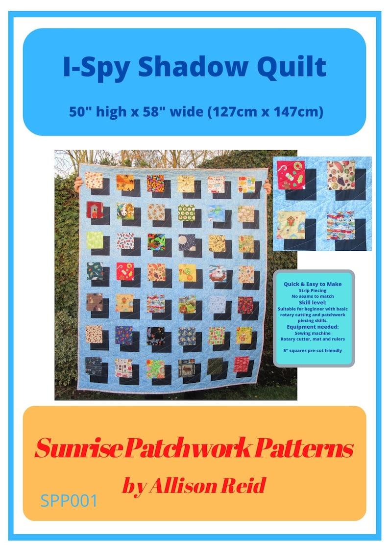 I-Spy Patchwork Quilt PDF Pattern ready to print image 1