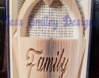 Book Art Folding PATTERN Wedding Day Cut And Fold #610