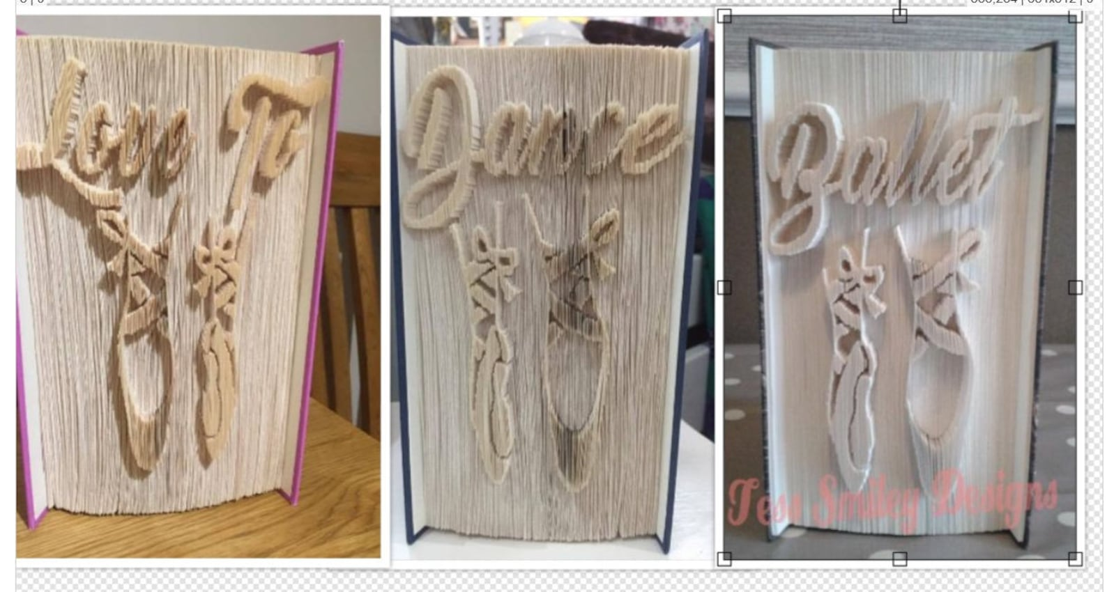 love to dance ballet shoes 3 book folding patterns bundle idea gift bookart