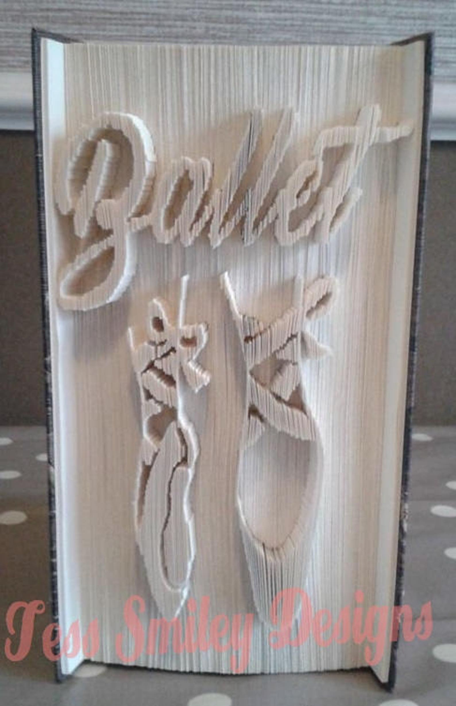 ballet shoes book folding pattern cut and fold gift bookart part of a set
