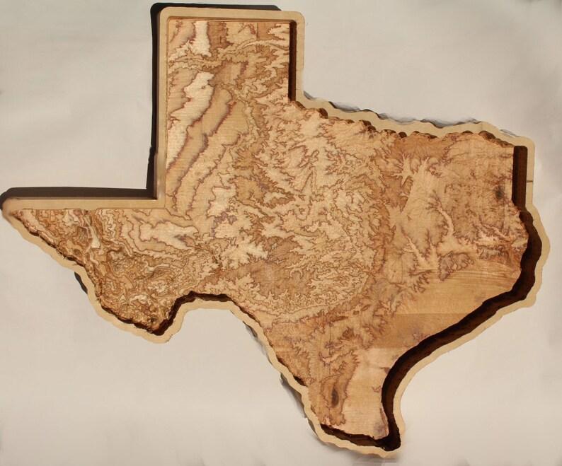 3d Map Of Texas.Texas 3d Wooden Raise Relief Map 19 X 18