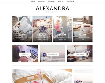 Alexandra - A WordPress Blog Theme - WordPress Theme - WordPress Blog Theme - WordPress Template - WordPress Responsive - WordPress Blog