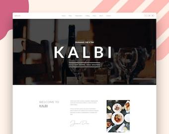 Restaurant Cafe Bar WordPress Theme - Restaurant WordPress Theme -  Kalbi Website Template
