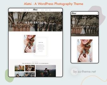 Alatsi A WordPress Photography Theme - WordPress Website - Photography Template - Blog Template - WordPress Portfolio Theme