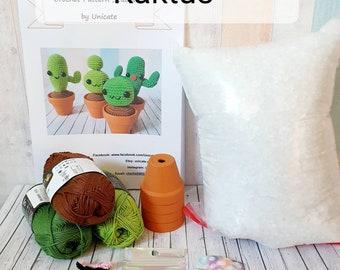 DIY Crochet Set Cactus crochet kit for self-make Homedeco