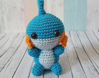 Pokemon Amigurumi Hydropi Mudkip crochet doll handmade decoration