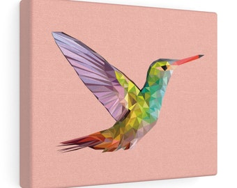 Hummingbird Print On Canvas