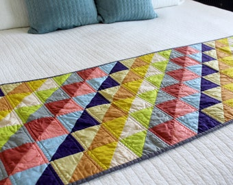 Triangles Bed Runner