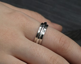 Fixed Spinner Sterling Silver Ring