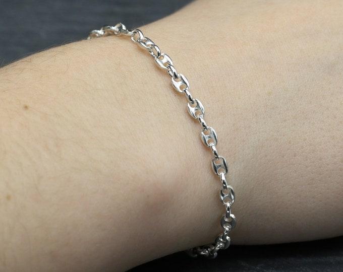 Sterling Silver Anchor Chain Bracelet