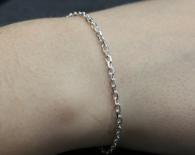 Sterling Silver Trace Chain Bracelet
