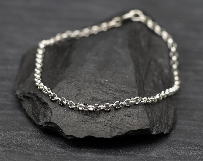 Sterling Silver Belcher Chain Bracelet