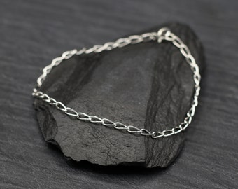 Sterling Silver Open Curb Bracelet